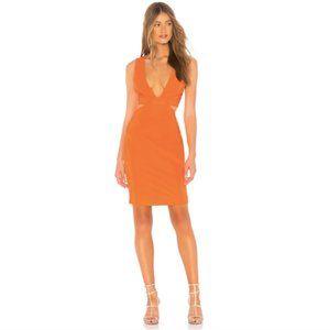 "NWT NBD Revolve ""Sophia"" Orange Cutout Dress XXS"